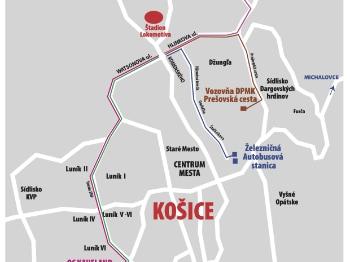 Košice Lokomotíva - parkoviská