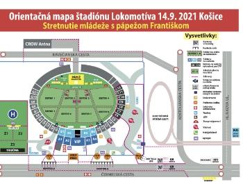 Košice Lokomotíva - Plán sektorov