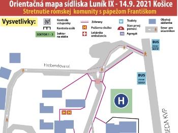 Košice Luník IX - Plán sektorov